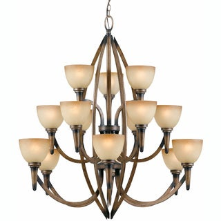 Olympian 15-light Torch Bronze Chandelier