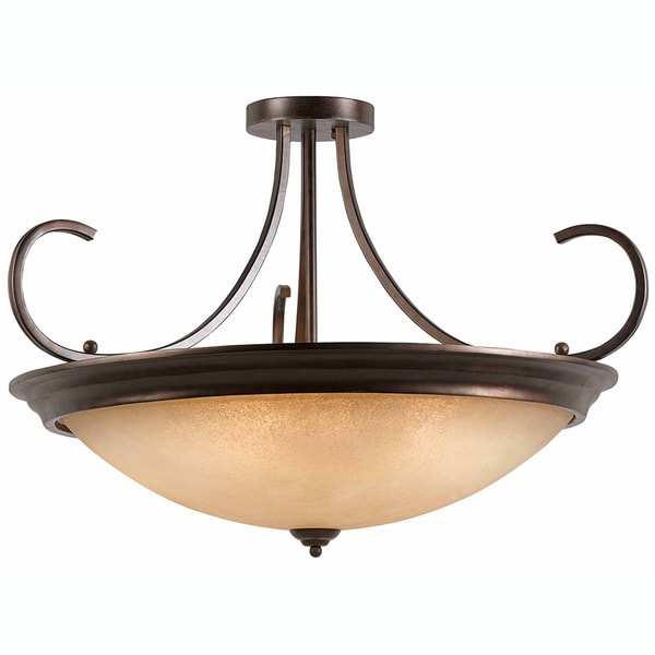 LaCosta 10-light English Bronze Semi-flush Fixture