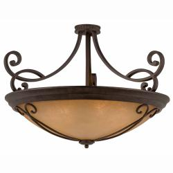 Corsica 10-light English Bronze Semi-flush Fixture