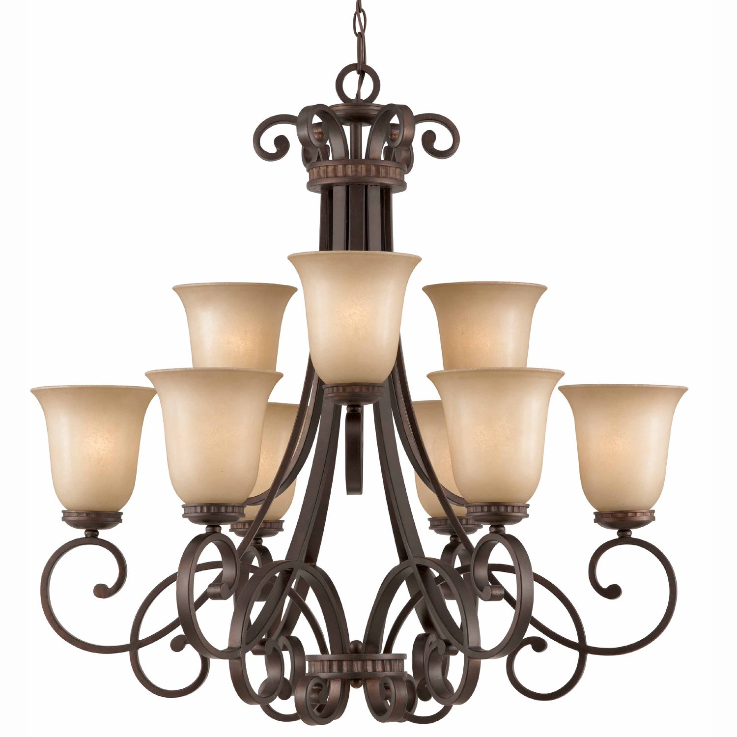Corsica 9-light English Bronze Chandelier