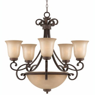 Corsica 8-light English Bronze Chandelier