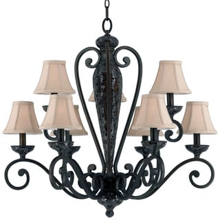 Jewelry 9-light Harvest Bronze Chandelier