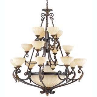Venus 20-light English Bronze Chandelier