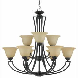 Greco 9-light English Bronze Chandelier