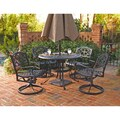 Biscayne Cast Aluminum Black 5-piece Patio Dining Set
