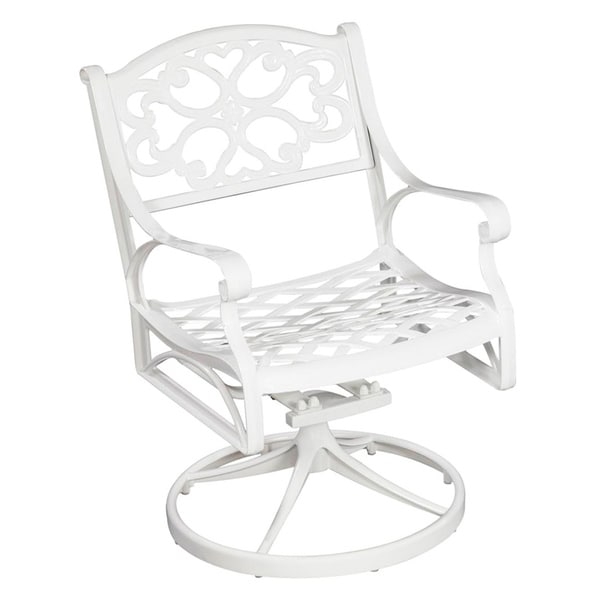 Biscayne Cast Aluminum White Outdoor Swivel Chair
