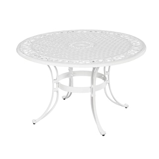 Biscayne Cast Aluminum White 42-inch Outdoor Dining Table