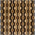 Hand-tufted Brown/Black Contemporary Boyce Wool Geometric Rug (6' Square)