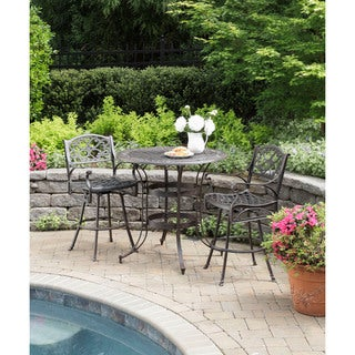 Biscayne Cast Aluminum Bronze 3-piece Patio Bistro Set