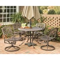 Biscayne Cast Aluminum Bronze 5-piece Patio Dining Set