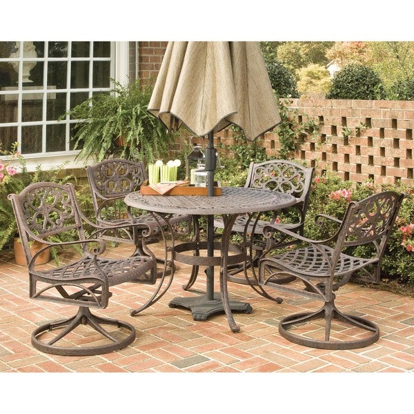 Home Styles Biscayne 48 in. Bronze Swivel Patio Dining Set