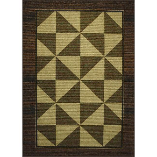Somette tufted sisal geometric print brown beige indoor for Geometric print area rugs