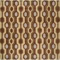 Hand-tufted Brown Contemporary Breaux Wool Geometric Rug (9'9 Square)