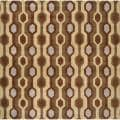 Hand-tufted Brown Contemporary Breaux Wool Geometric Rug (6' Square)