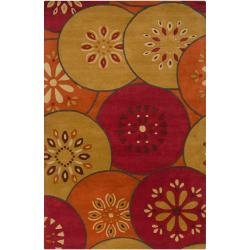 B. Smith Hand-tufted Red Satiary New Zealand Wool Rug (3'3 x 5'3)