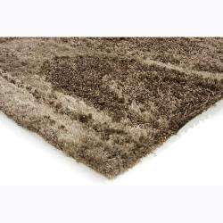 Handwoven Mandara One-Inch Brown Shag Rug (7'9 x 10'6)
