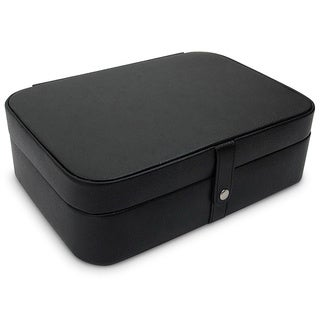 Morelle 'Kimberly' Black Leather Jewelry Box