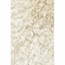 Hand-woven Mandara Ivory Shag Rug (9' x 13')