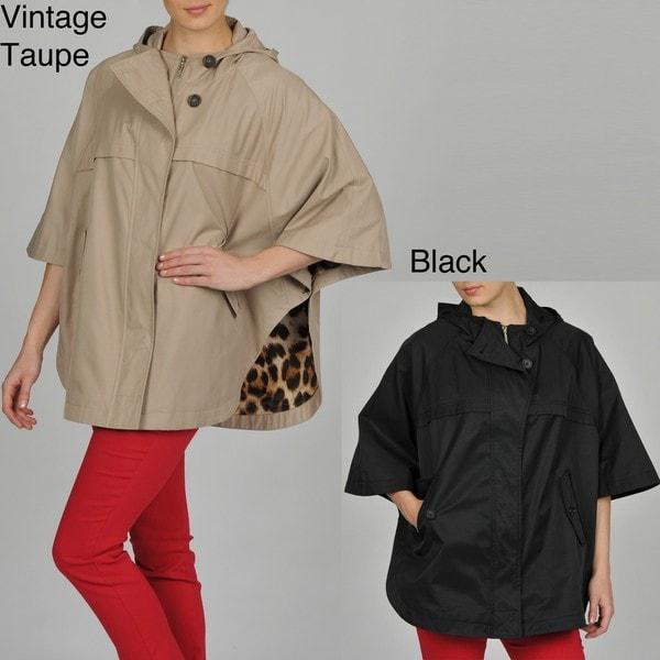 Hilary Radley Women's Zip-front Hooded Cape