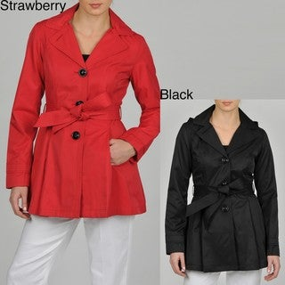 Esprit Women's Single Breasted Hooded Trench