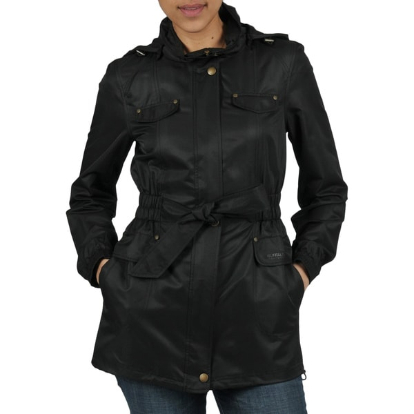 Buffalo Women's Lightweight Belted Windbreaker