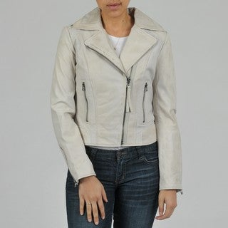 Buffalo Women's Asymmetrical Zip Biker Leather Jacket