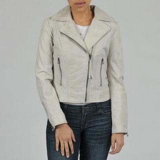Buffalo Women's Asymmetrical Zip Biker Leather Jacket