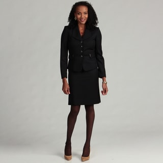 Tahari ASL Women's Pinstriped Skirt Suit