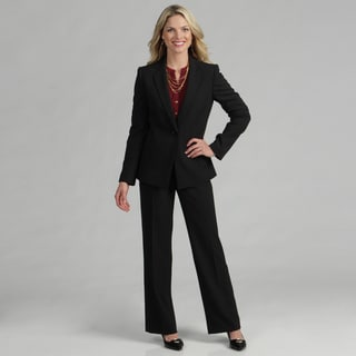 Tahari Women's Black/ White Pinstriped Pant Suit