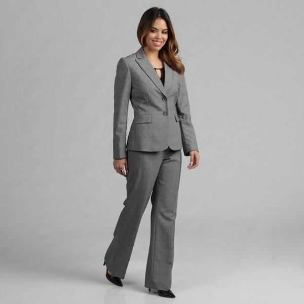 Tahari ASL Women's Plaid Pant Suit