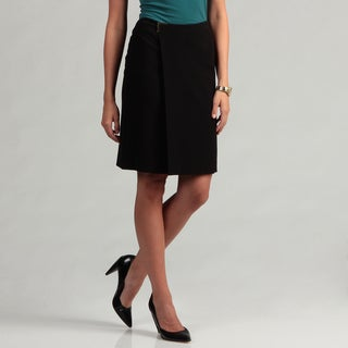 Calvin Klein Womens Faux Wrap Skirt