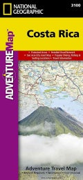 National Geographic Adventure Map Costa Rica (Sheet map, folded)