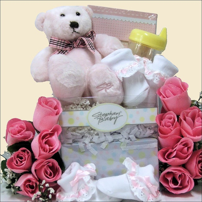Special Delivery Baby Gift Girl Basket