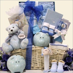 Baby  Gift Sets on Baby Boy Gift Basket   Overstock Com Shopping   The Best Deals On Gift