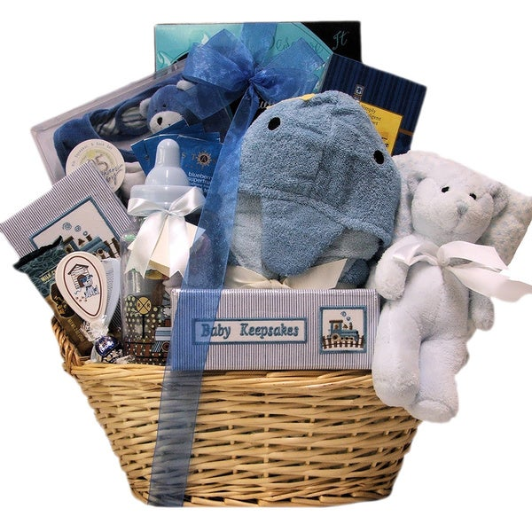 Congratulations Baby Boy Gift Basket