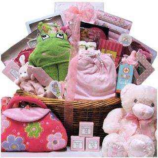 Grand Welcome Baby Girl Gift Basket