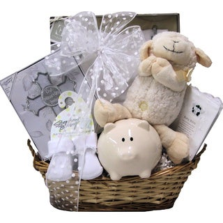 Bless This Baby Girl Christening Gift Basket