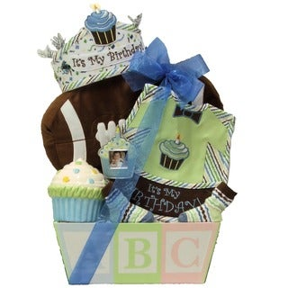 Great Arrivals Baby's 1st Birthday Baby Boy Gift Basket