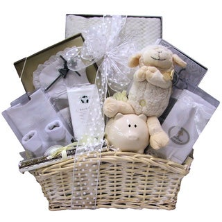 Great Arrivals Beautiful Blessings on Your Christening Baby Girl Gift Basket