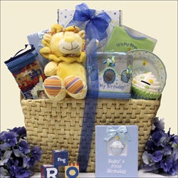 Baby's 1st Birthday Boy Large Gift Basket