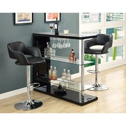 Metal Chrome/ Black Hydraulic Lift Bar Stool