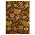 Hand-tufted Florio Brown Wool Rug (5' x 7')