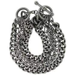 CGC Silverplated Six-chain Toggle Bracelet
