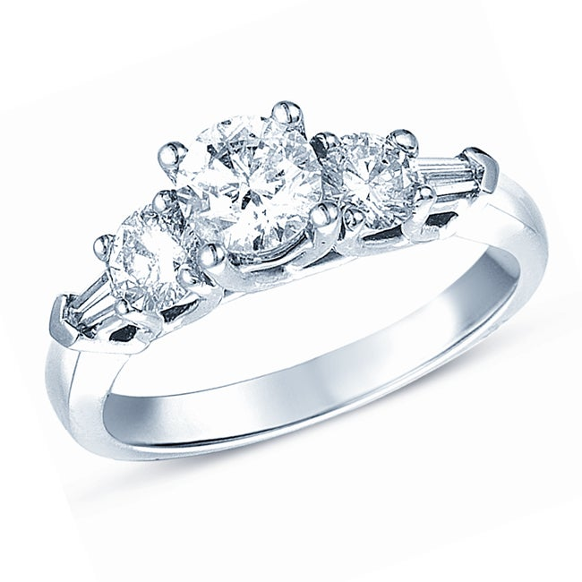 Timeless 14k White Gold 1 1/3ct TDW Diamond Engagement Ring (H-I, I1)