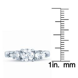 Timeless 14k White Gold 1 1/3ct TDW Diamond Engagement Ring (H-I, I1)