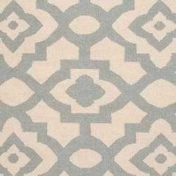 Hand-woven Natural Market A Wool Rug (3'6 x 5'6)