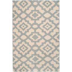 Hand-woven Natural Market A Wool Rug (3'6 x 5'6)