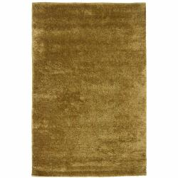 Handwoven Mandara Beige Polyester/Wool Shag Rug (9' x 13')