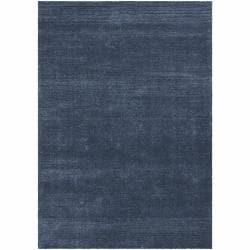 Hand-woven Mandara Blue Shag Rug (9' x 13')