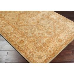 Hand-tufted Orange Panel A New Zealand Wool Rug (8' x 11')
